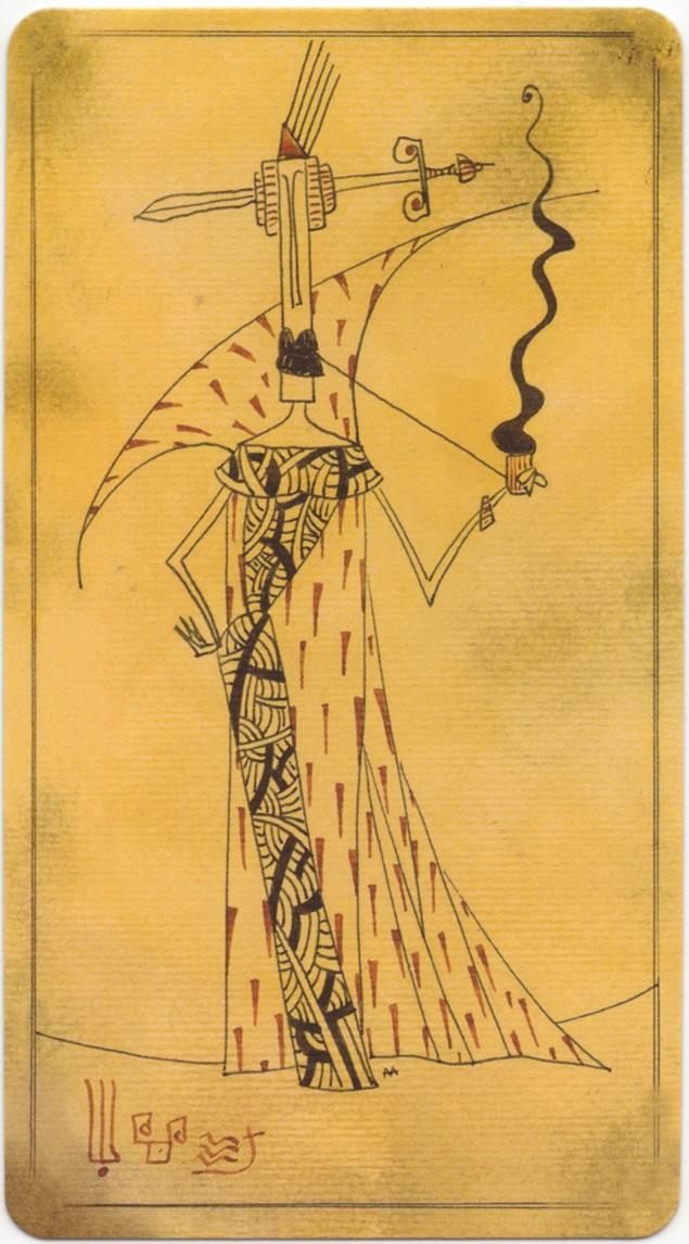 """Queen of Swords card, """"Lost Code of Tarot"""" deck"""